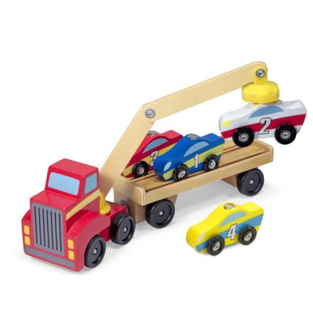 Melissa & Doug Magnetic Car Loader